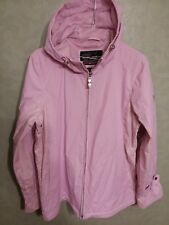 Women's Zeroxposur Pink Jacket S Floral 100% Polyester with PVC Coating EUC