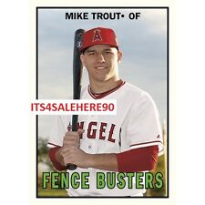 2017 Topps TBT Great HR Rookie Seasons 1967 Fence Busters MIKE TROUT Angels