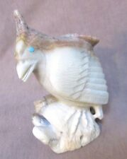Zuni Amazing Picasso Marble Quail on Branch by Great Carver Derrick Kaamasee 178