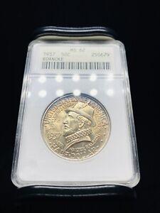1937 Roanoke Commemorative Half Dollar ANACS MS62 - Great Toning!