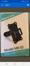 New listing Mighty Rock Bicycle Bike Mount Universal Cell Phone Holder Mr-02 Rack H