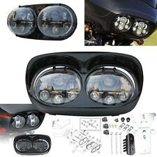LED Headlight Dual Projector Lamp for Harley Road Glide 2003-2013
