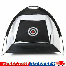 10ft Golf Practice Cage Driving Net Training Aid Mat Driver Irons w/ Free Bag SL