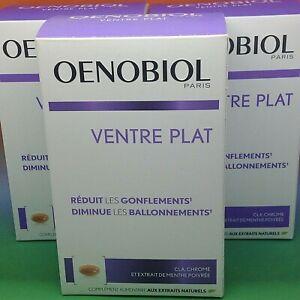 3X OENOBIOL VENTRE PLAT 3X 60 CAPSULES 12/2022 BALLONNEMENTS GONFLEMENTS