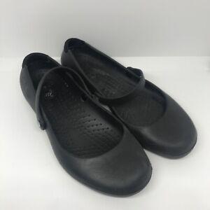 Crocs Alice Lightweight Black Ballet Flat Shoes Pumps Womens Size 6 UK 4