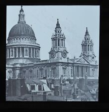 c1890s Magic Lantern Slide Photo St Paul's Cathedral Millikin & Lawley Strand