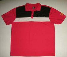 Manchester United Red Black Polo Shirt Mens Large EUC