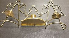 Home Interiors Brass angel tree Wall Accent Decor Votive Sconce 3Pc
