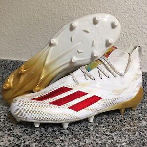 Adidas Adizero 11.0 Gold Red White Football Cleats GZ8855 Mens Size 12 - RARE!