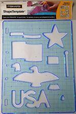 Fiskars Shape Template -Patriotic - 4883- NEW