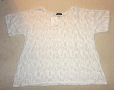 BNWT TOPSHOP WHITE LACE EFFECT TOP SIZE S/M