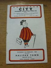 03/02/1968 Bradford City v Halifax Town  (Light Crease, Small Rusty Mark). Item