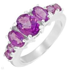 2.50ctw 7-Stone Amethyst Ring-Size 7-Valued $179.00 - SSilver