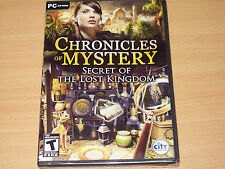 Chronicles of Mystery Secret of the Lost Kingdom (PC, 2011) Brand New & Sealed