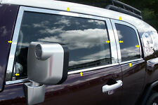 QAA 18PC STAINLESS STEEL WINDOW TRIM PACKAGE 2007-2014 TOYOTA FJ CRUISER