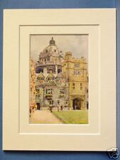 BRASENOSE COLLEGE RADCLIFFE LIBRARY ROTUNDA OXFORD DOUBLE MOUNTED HASLEHUST PIC