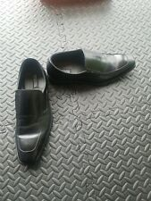 Kenneth Cole Reaction Mens Black Leather Shoes 12m euc