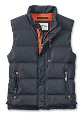 ORVIS lightweight Essex mens Down Puffer Vest Jacket Navy Blue  zip-up or button