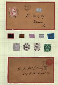 Blood's Penny Post carriers, local posts, independent mail Stamps & Covers