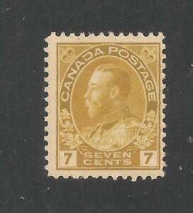 Canada #113 (A43) F MINT - 1912 7c King George V - SCV $55.00
