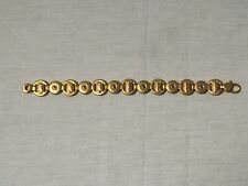 Vintage Gold Tone Bracelet With Screw Heads