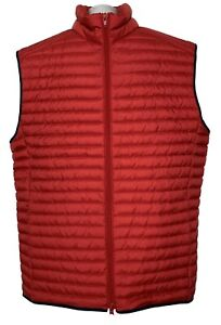 NEW, BROOKS BROTHERS RED FLEECE MEN'S RED DOWN VEST, XL, $135