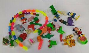 Vintage 1980s Gumball Vending Machine Toys Lot Bracelet Figure Eraser