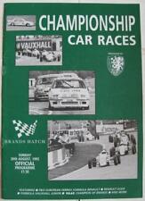 BRANDS HATCH 30 Aug 1992 Championship Car Races A4 Official Programme