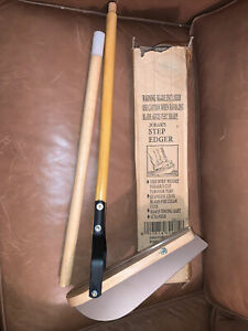 New Jobars Step Edger 42 Inch Wood Handle For Easy Edging Lawn Garden Grass