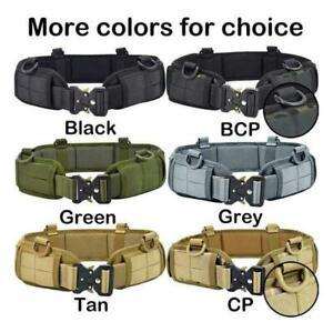Outdoor Hunting Tactical Molle Waist Padded Patrol Combat Battle Web Belt Sets