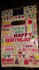 8 Happy Birthday Bags  by Tesco FREE P&P