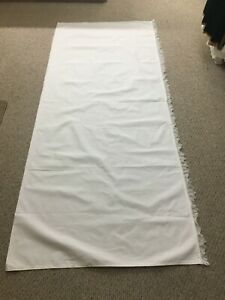 WHITE ALTAR CLOTH WITH 1 1/2 INCH LACE TRIM