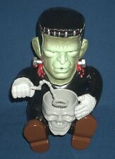 Frankenstein Monster Animated Bubble Blowing Machine ~ 90's Halloween Decoration
