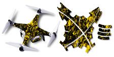 Dji Phantom 2 Drone Wrap Rc Quadcopter Decal Custom Skin Accessory Yellow Flames