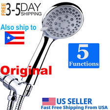 Handheld Shower Head set High Pressure 5 Setting with hose 5 Ft Stainless Steel