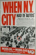 1937 Mobile Oil advertisement, Mobiloil, early NEW YORK CITY traffic jam photo