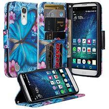 For LG K20 Plus Case, LG K20 V, LG Harmony Hybrid Leather Wallet Pouch Flip Case