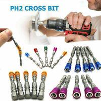 5Pcs Magnetic Screw Driver Bits 65mm Screwdriver Bits Drills Set S2 Alloy Steel