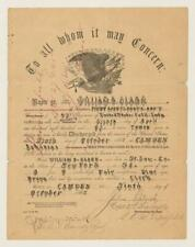 83rd Colored Infantry 1865 Officer Documents