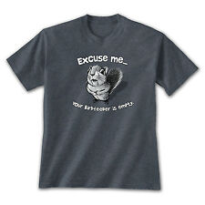 Excuse Me Squirrel T-Shirt Your Birdfeeder Is Empty Funny Nature Bird Lover Gift