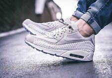 Nike Air Max 90 Woven Phantom Lt Iron Ore/White 833129-005 Men's Sz 7