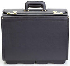"Korchmar Classic Collection 20"" Wheeled Vinyl Catalog Case Briefcase - Black"