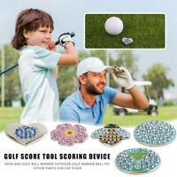 For Cap Visor Iron+ABS Professional Golf Ball Marker Outdoor Ball Position Parts