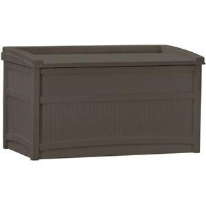 Outdoor 50 Gallon Container Resin Deck Storage Durable Box Bench Seat Organizer