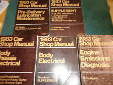 1983 FORD (MUSTANG AND MORE) / LINCOLN / MERCURY SHOP MANUALS ORIGINAL BOOK SET