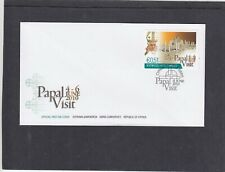 Cyprus 2010 Pope Benedict Papal Visit First Day Cover FDC Cyprus special h/s