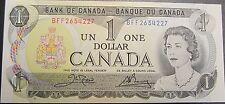 1973 CANADA  BANK NOTE  $1 DOLLAR  CROW - BOUEY  QUEEN ELIZABETH 11  GUNC