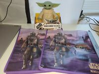 "Hasbro Star Wars Mandalorian Baby Yoda ""Grogu"" The Child 7.5 "" Tall w/ 2 Bags"