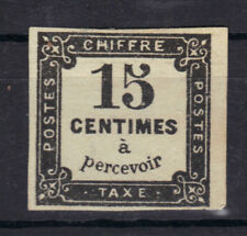 TAXE n°4  15c NOIR Litho 1863-1870 NEUF* pas de charniere pas de clair  stamp