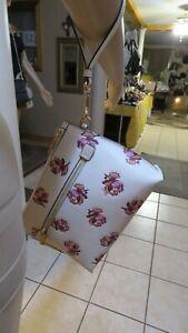NEW Coach Wristlet or Wallet Chalk Floral Rose's or Dandelion Print Leather